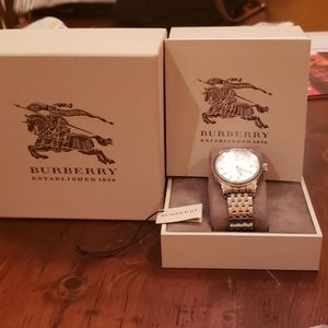 EUC Burberry Stainless Steel Watch